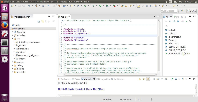 Setup Eclipse with GCC ARM Embedded on 32 bit Ubuntu 16 04