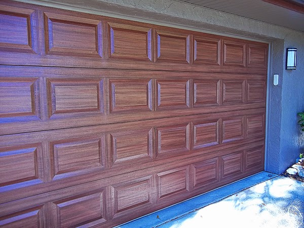 I Completed Creating A Wood Grain Look On A Double Garage Door Last Week.  The Job Came Out Great And The Client Loved It.