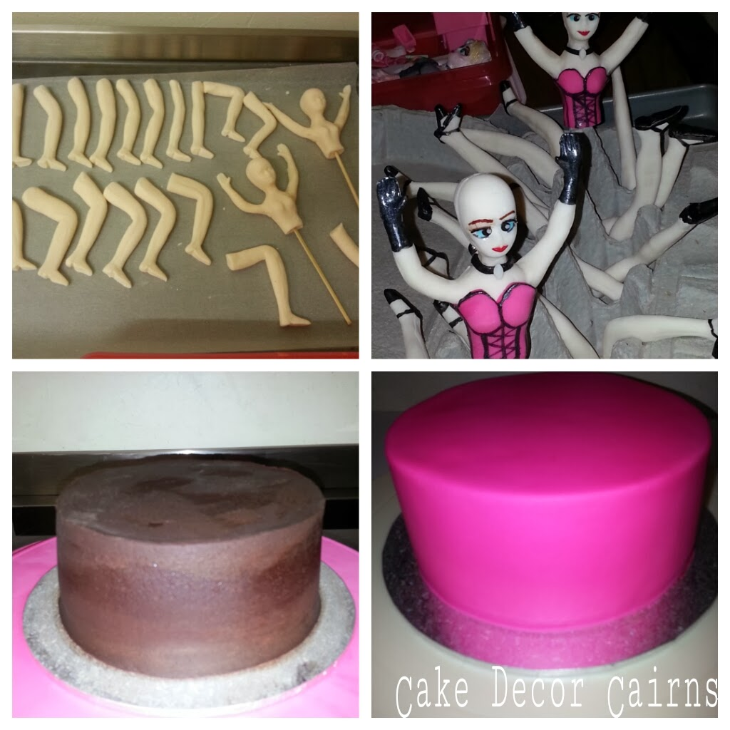Moulin Rouge Cake how to make steps