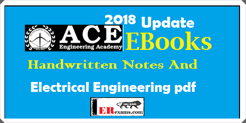 Update 2018 Ace Academy Electrical Notes For Gate Ies Psu