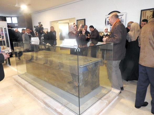 Ancient lead sarcophagus unveiled to public in Jerash