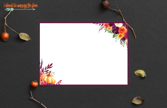 Note Cards for Fall