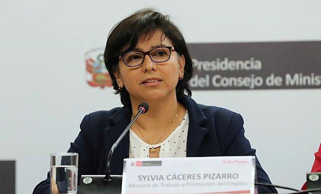 Titular del MTPE, Sylvia Cáceres Pizarro