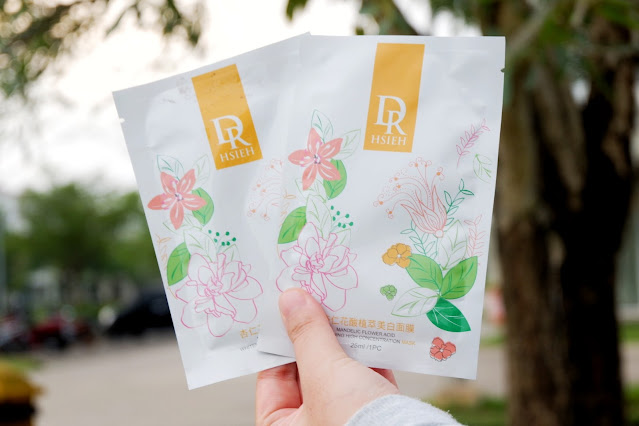 Dr.Hsieh Mandelic Flower Acid Whitening High Concentration Mask Review, Dr.Hsieh Sheet mask, sheet mask, skincare taiwan, dr.hsieh indonesia