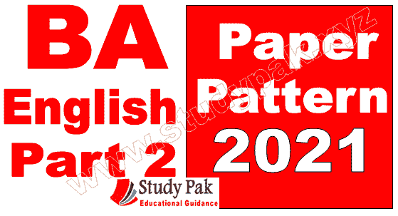 BA Associate Degree part 2 English paper pattern 2021