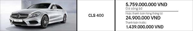 Giá xe Mercedes CLS 400 2017 tại Mercedes Trường Chinh