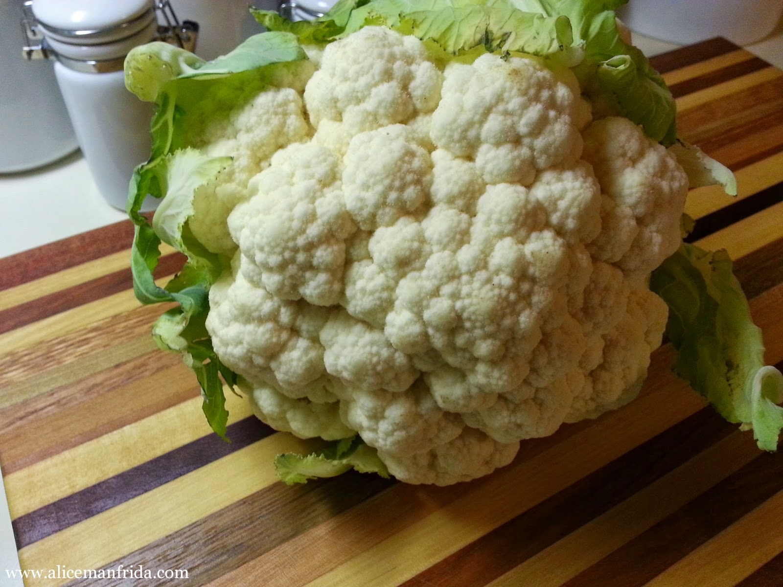Alice Cooks, cauliflower, side dish