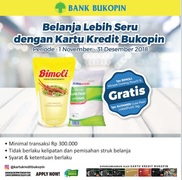 Bank Bukopin  - Promo Belanja Seru di Alfamidi Gratis Minyak atau Gula Pasir