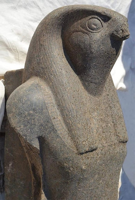 Colossus statue of Horus unearthed in Egypt's Luxor