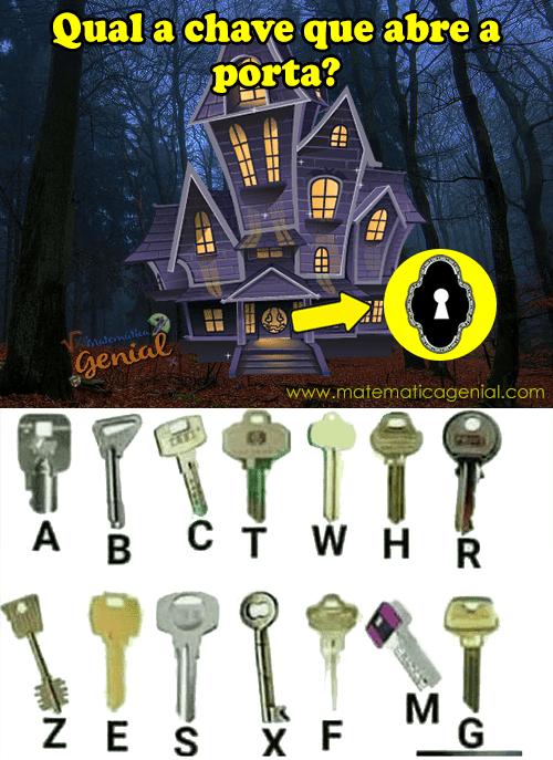 Desafio: Qual a chave que abre a porta?