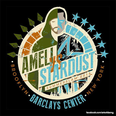 "WWE Summerslam 2015 ""Stephen Amell vs. Stardust"" T-Shirt"