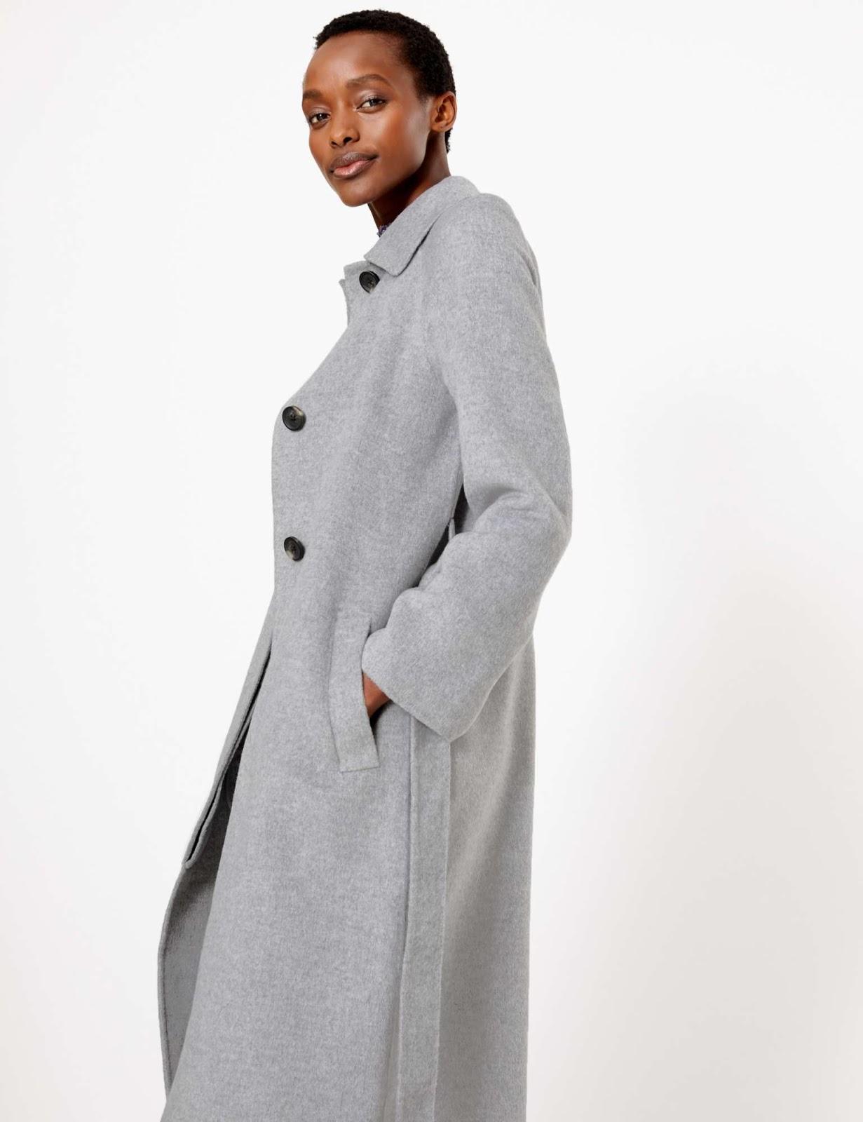 Marks and Spencer wool blend belted car coat