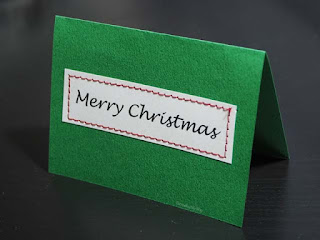 Make your own Christmas tags. All you need is a little card stock and a sewing machine. Tutorial at Threading My Way