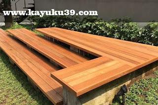 kursi taman dari decking kayu