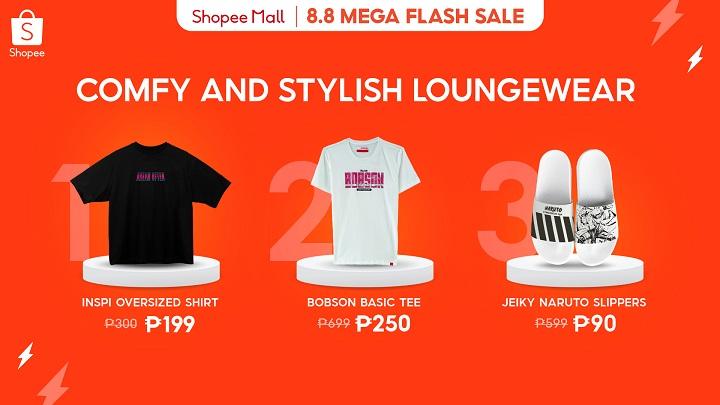 Shopee 8.8 Mega Flash Sale: Comfy and stylish loungewear