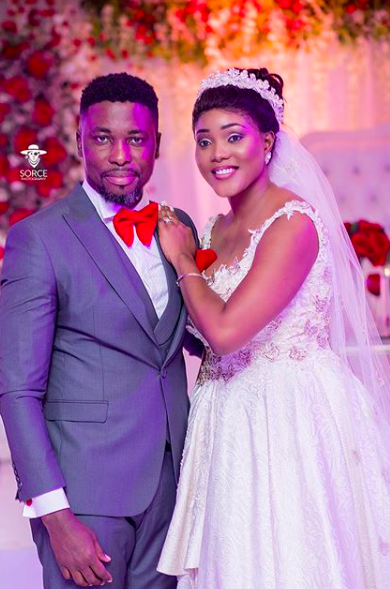 Photos and Video from A-Plus and Akosua Vee white wedding