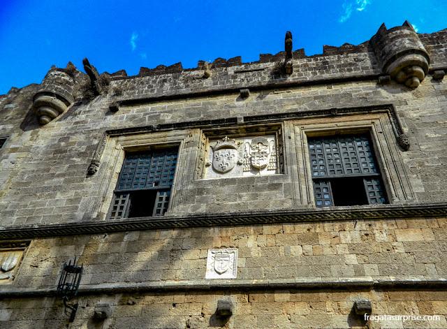 Alojamento de Cavaleiros Cruzados na cidade medieval de Rodes, Grécia