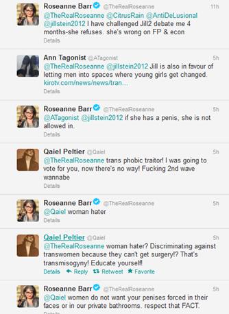 Planetransgender: Roseanne Barr Apoligizes For Transphobic ... - photo#13
