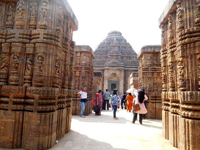The dancing hall (nat mandir) at the Konark Sun Temple, Orissa