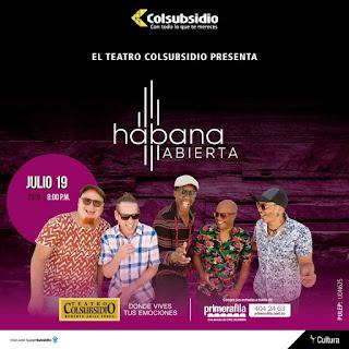 Concierto de HABANA ABIERTA en Teatro Colsubsidio 2019