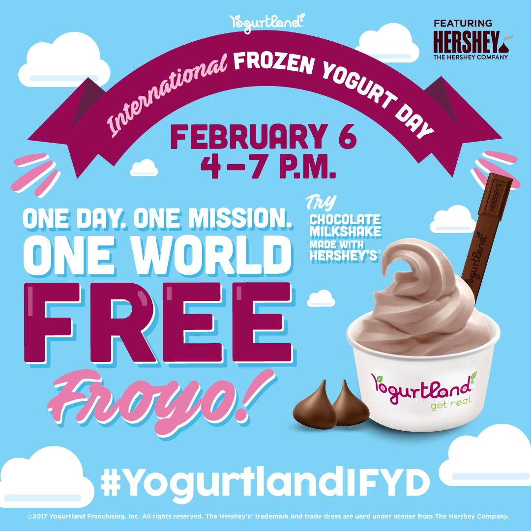 Feb 6 | On Nat'l FroYo Day, Test Your Swirling Skills @ Yogurtland - How Much Can You Fit For Free?