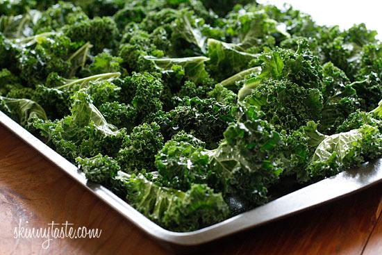 Baked Parmesan Kale Chips | Skinnytaste