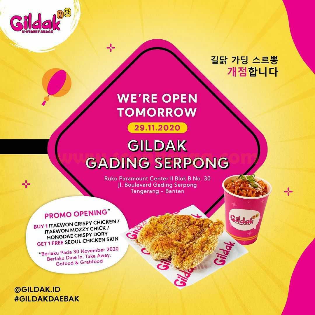 Gildak Gading Serpong Opening Promo Beli 1 Gratis 1
