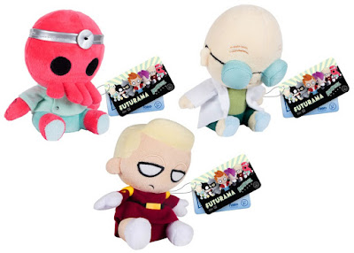 Futurama Mopeez Plush Series - Dr. Zoidberg, Professor Farnsworth & Zapp Brannigan