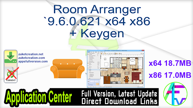 Room Arranger 9.6.0.621 x64 x86 + Keygen