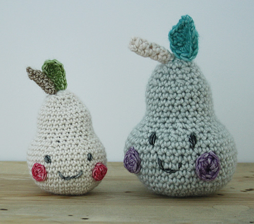 Crochet pears | Happy in Red