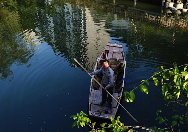 A fisherman on his boat