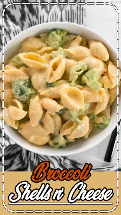 Broccoli shells n' cheese is a classic American dish that goes well along side any meal, or as a hearty side dish. 100% real, 100% homemade.