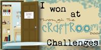 winner at the Through the Craft room Door Challenge