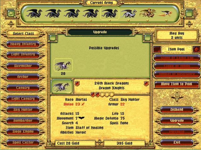 Army Screen | Fantasy General Screenshot