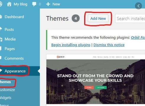 Review Template Website di WordPress