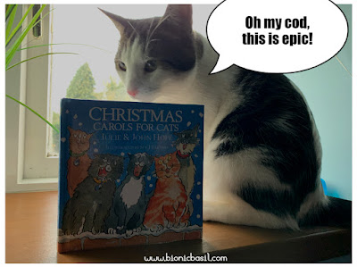 Feline Fiction on Fridays #115 at Amber's Library ©BionicBasil® Christmas Carols For Cat with Melvyn