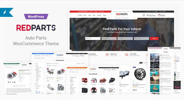 RedParts | 15+ Best Multipurpose WooCommerce WordPress Themes