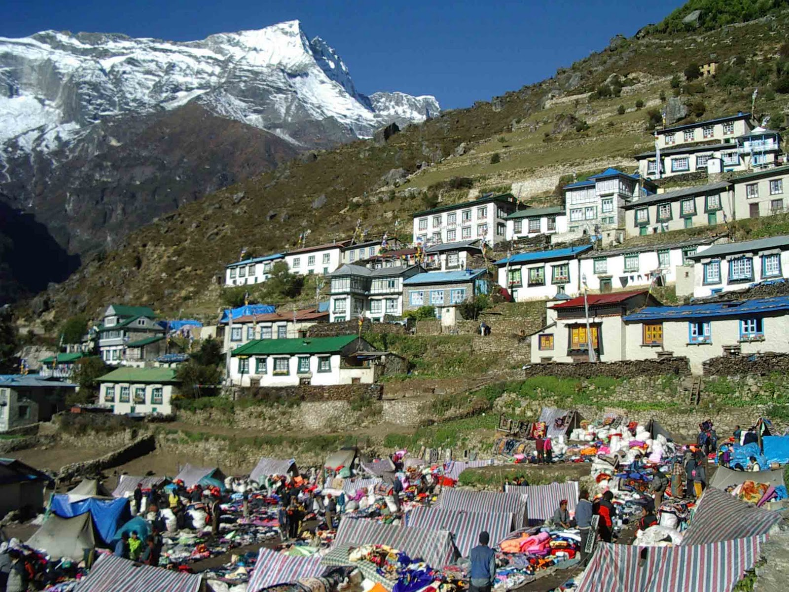 At Namche we have emerged from the narrow lowland valleys and after an ...
