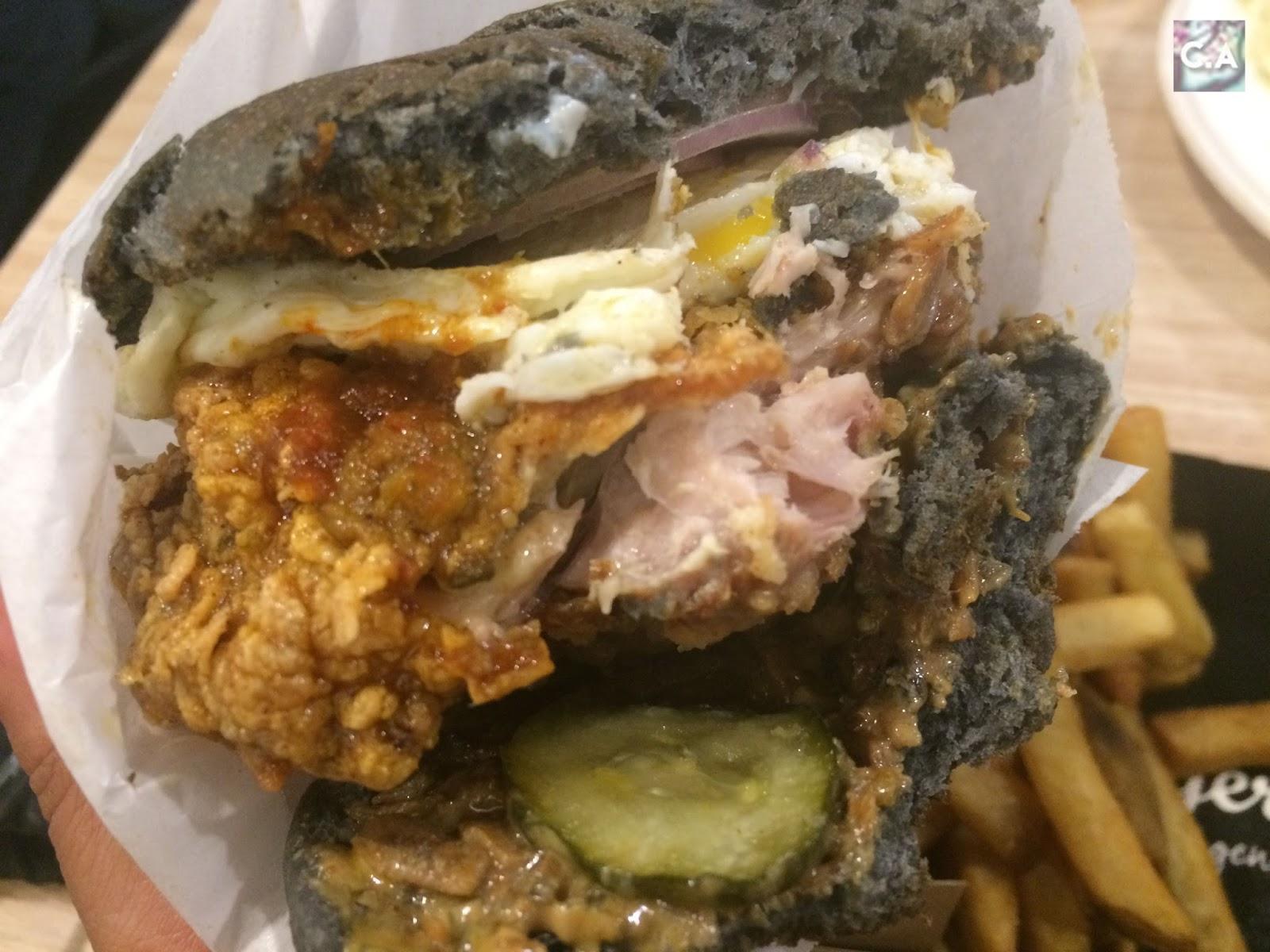 Nasi Lemak Burger myBurgerLab Curitan Aqalili