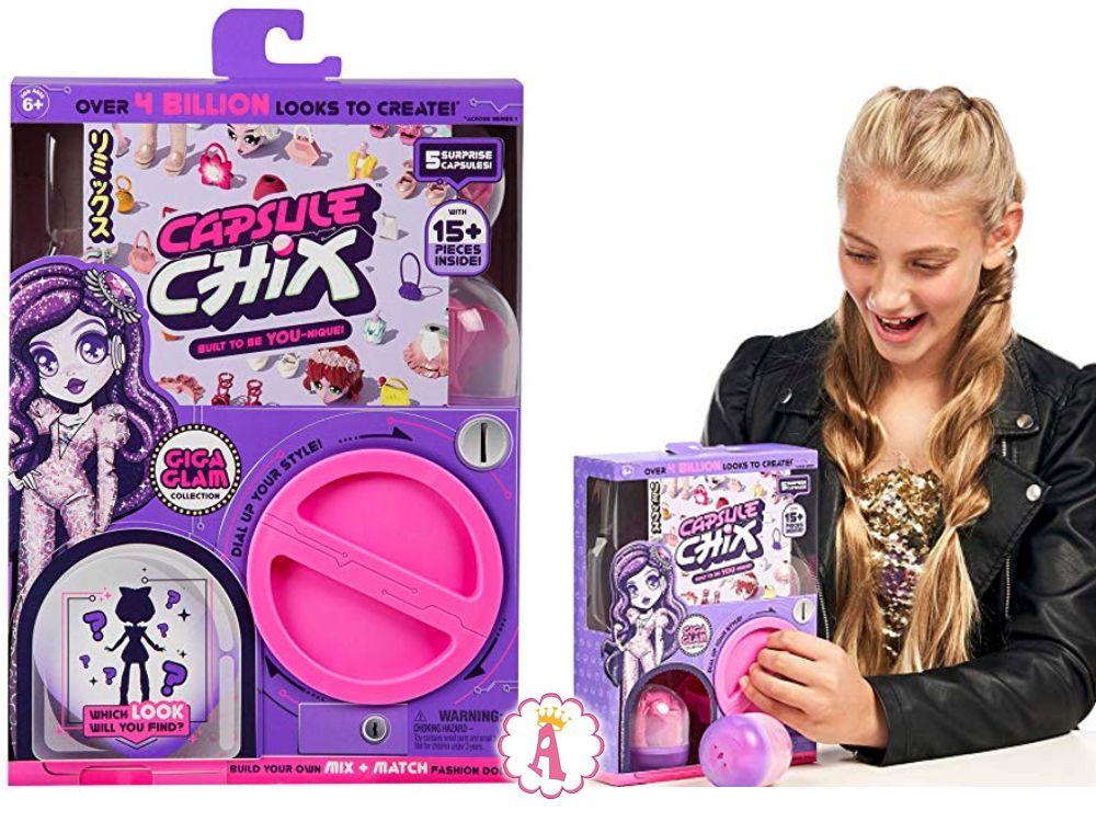 Куклы конструкторы Capsule Chix 15 сюрпризов
