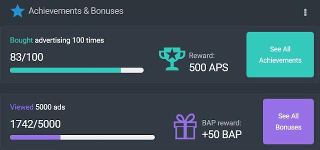 ptcshare achievements points