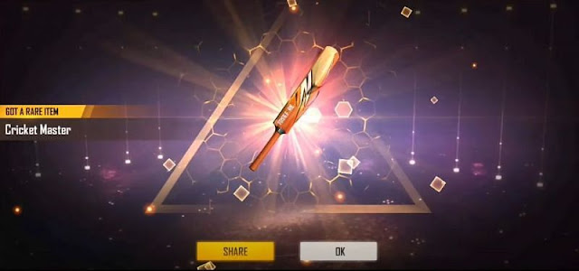 Free Fire: Claim Free 'Cricket Master' bat skin with Diwali Top Up Event
