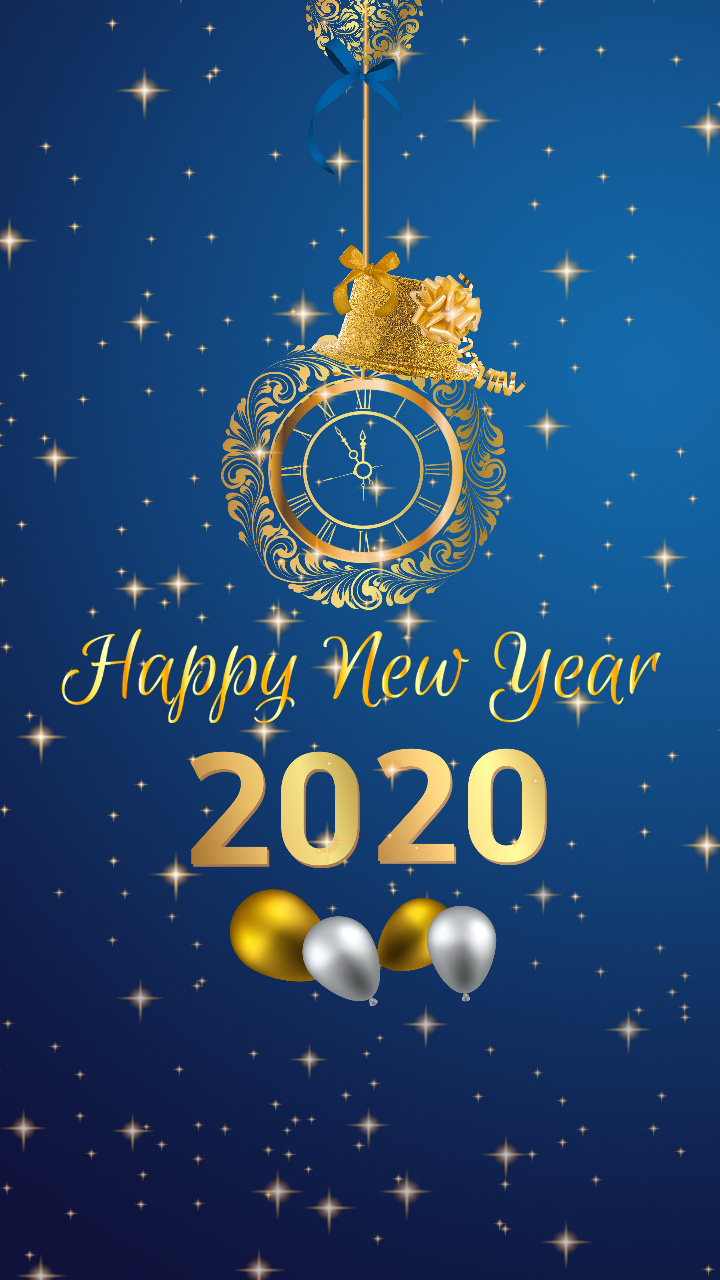 Happy new year 2020 Mobile Wallpaper