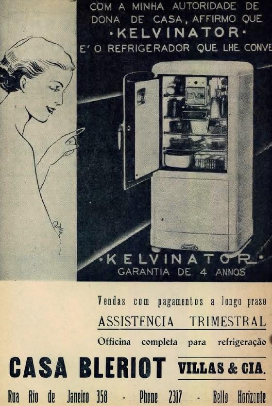 Campanha publicitária do Refrigerador Kelvinator veiculado nos anos 30