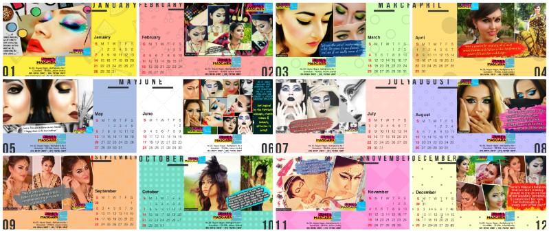 Jenie's Mascara 2018 Calendar