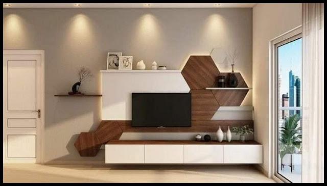 Simple TV Wall Design