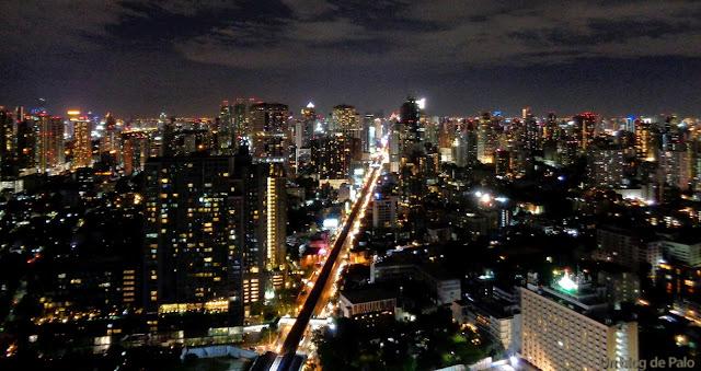 Octave Rooftop restaurante hotel marriott Bangkok vistas