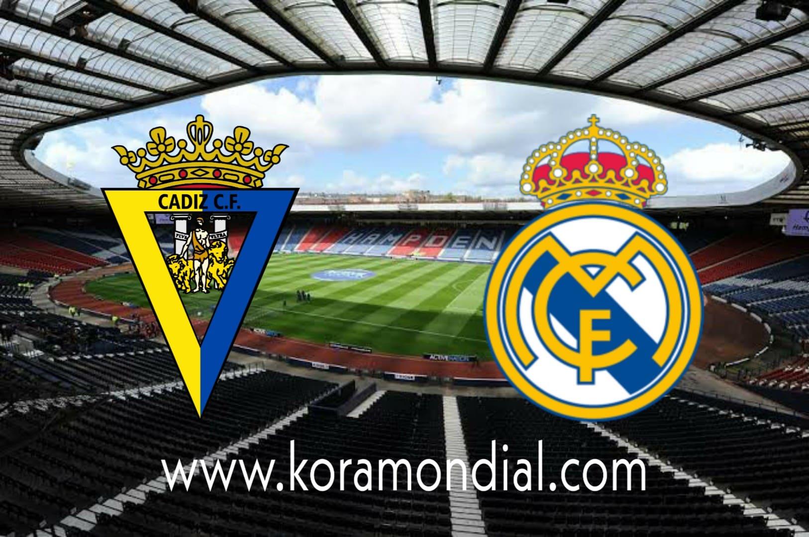 مشاهدة مباراة ريال مدريد و قادش بث مباشر اليوم  17-10-2020 في الدوري الإسباني