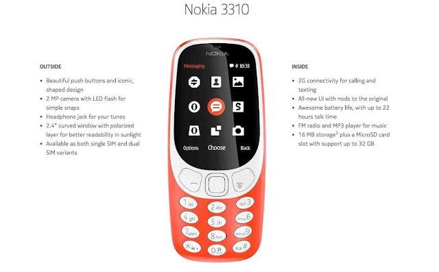 Nokia 3310 Versi 2017 Cuma Dukung Jaringan 2G
