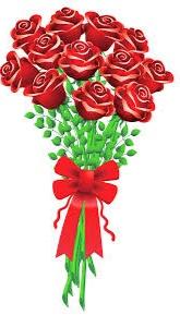 Gambar bunga mawar kartun